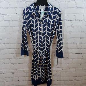 Donna Morgan long sleeve shirt dress NWT